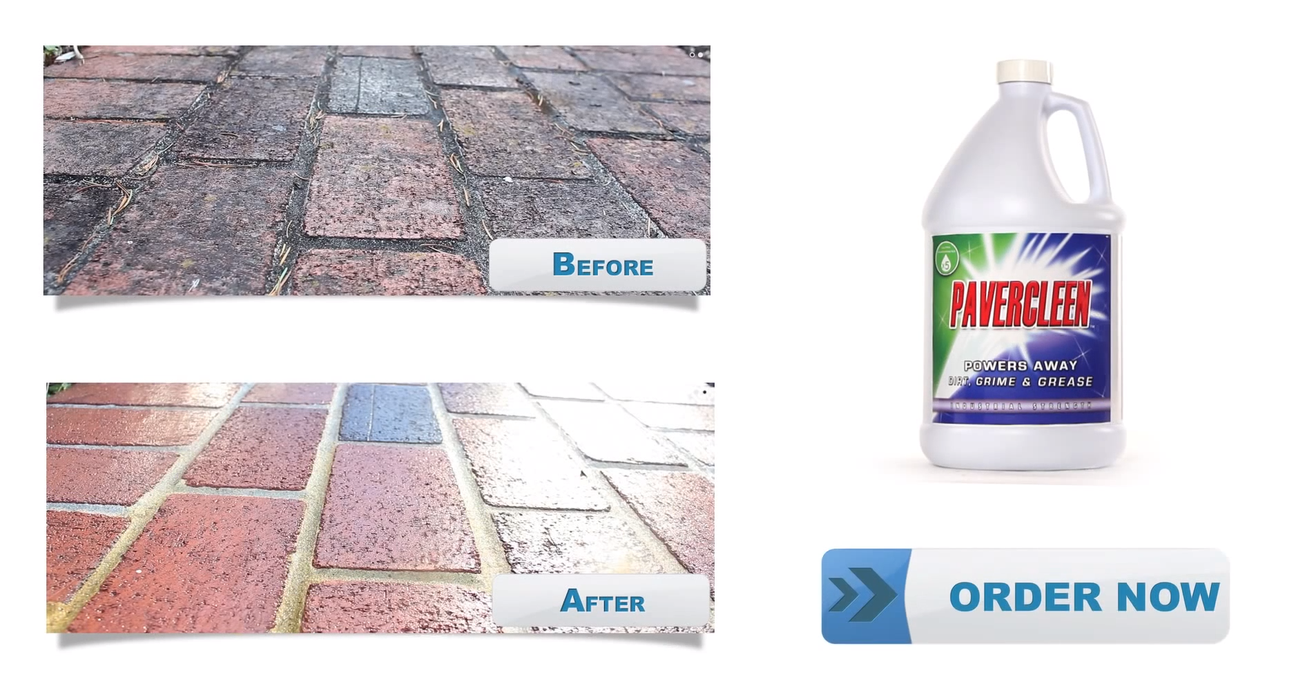 ... High Strength Paver Clean. This Will Remove The Toughest Stains. You  Are All Set. If You Plan To Seal Your Pavers Wait A Day For The Masonry To  Dry Out ...